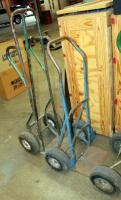 "Heavy Duty Metal Floor Dollies, Qty 3, Heights Measure 46"" To 55"" - 3"