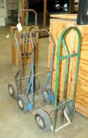 "Heavy Duty Metal Floor Dollies, Qty 3, Heights Measure 46"" To 55"" - 5"