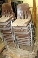 Metal Framed Stacking Chairs, Qty 21, Contents Of Pallet - 2
