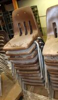 Metal Framed Stacking Chairs, Qty 21, Contents Of Pallet - 3