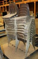 "Metal Framed Stacking Chairs, 31"" x 15"" x 21"", Qty 25, Contents Of Pallet"