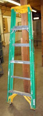 Werner 6 Foot Fiberglass Folding Stepladder, Model And Capacity Unknown