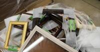 "Picture Frame Assortment Including 4"" x 6"" Table Top Frames, 5"" x 7"", 8"" x 10"", 9"" x 12"", And More, Large Qty, New Stock With Original Labels, Contents Of Pallet, Bidder Responsible For Proper Removal - 4"