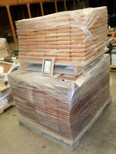 "Solid American Oak 5"" x 7"" Picture Frames With Glass Fronts And 5"" x 7"" Frames Only (No Glass), Large Qty, New Stock, Contents Of 2 Stacked Pallets, Bidder Responsible For Proper Removal"