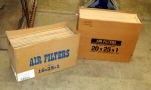 "True Value Air Filters, 20"" x 25"" x 1"" Qty 10 And 16"" x 25"" x 1"" Qty 11, Contents Of 2 Boxes"