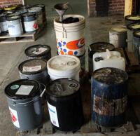 Wood Finishing Supplies Including Sherwin Williams Mineral Spirits, Wiping Stain, Black Lacquer, & More, Large Qty, Some Partially Full, Contents Of Pallet, Bidder Responsible For Proper Removal - 2