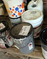 Wood Finishing Supplies Including Sherwin Williams Mineral Spirits, Wiping Stain, Black Lacquer, & More, Large Qty, Some Partially Full, Contents Of Pallet, Bidder Responsible For Proper Removal - 5