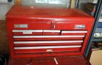 "Craftsman 6 Drawer Tool Chest Including Assorted Hand Tools, Wrenches, Pliers, Hand Files, Sockets, And More, 15"" x 26"" x 12"""