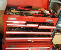 "Craftsman 6 Drawer Tool Chest Including Assorted Hand Tools, Wrenches, Pliers, Hand Files, Sockets, And More, 15"" x 26"" x 12"" - 2"