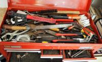 "Craftsman 6 Drawer Tool Chest Including Assorted Hand Tools, Wrenches, Pliers, Hand Files, Sockets, And More, 15"" x 26"" x 12"" - 3"