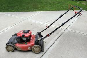 "Troy Bilt Gas Powered Self Propelled Push Mower With 21"" Cutting Deck, Model TB200, With Briggs And Stratton 150cc Motor"