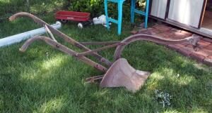 "Antique John Deere Walking Plow Model 191, 92"" Long"