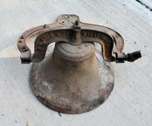 "Bell And Company Cast Iron 14.5"" Garden Bell, Handle Is Broken"