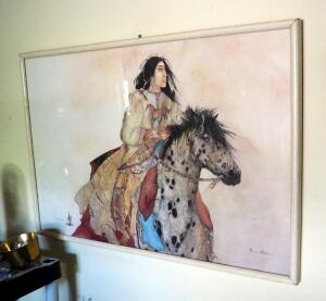 "Framed Under Glass Carol Grigg ""Brave Horse"" Art Print, 25"" x 37"""