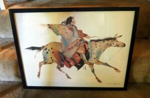"Framed Under Glass Carol Grigg ""Wind Riders"" Art Print, 19"" x 25.5"""