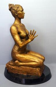 "Paige Bradley (American, 1974- ), ""Intention, 1/2 Life"" Bronze Statue, Numbered 1/12, 31"" High, Crated And REVEALED For 1st Time! SEE VIDEO"