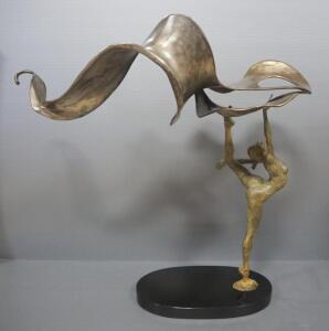 "Paige Bradley (American, 1974- ), ""Soaring"" Bronze Statue, 34.5"" High"