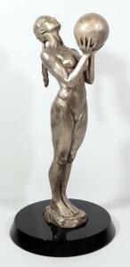 "Paige Bradley (American, 1974- ), ""Birth"" Bronze Statue, Numbered 35/50, 20"" High, Marble Base"