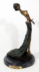 "Maria Paris ""Pretty Pose"" Bronze Statuette, 15.5"" High"