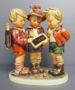 "M I Hummel ""Schoolboys"" Figurine No. 170, 7.5"" High, 1967 Engraving Year, Last Bee Mark"
