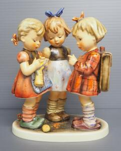 "M I Hummel ""Schoolgirls"" Figurine No. 177, 7.5"" High, 1967 Engraving Year, Last Bee Mark"