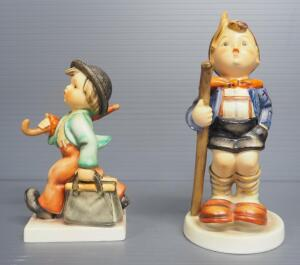 "M I Hummel Figurines Includes ""Little Hiker"" No. 16/1, 6"" High And ""Merry Wanderer"" No. 11/0, 5"" High"