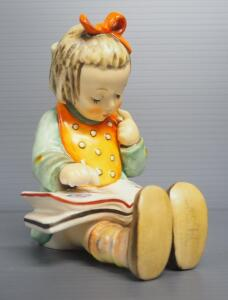 "M I Hummel ""Book Worm"" Figurine No. 3/1, 5.5"" High, Stylized Bee Mark"