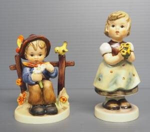 "M I Hummel Figurines Includes ""She Loves Me, She Loves Me Not!"" No. 174 4"" Stylized Bee Mark & ""For Mother"" No. 257 5"" 1963 Engraving Three Line Mark"