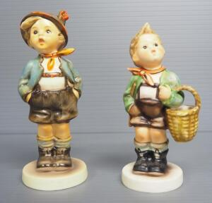 "M I Hummel Figurines Includes ""Brother"" No. 95, 5.75"" High, Stylized Bee Mark, And ""Village Boy"" No. 51/2/0, 5.25"" High, Three Line Mark"