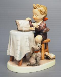 "M I Hummel ""Little Bookkeeper"" Figurine No. 306, 4.75"" High, 1955 Engraving Year, Three Line Mark"
