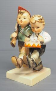 "M I Hummel ""Volunteers"" Figurine No. 50/2/0, 4.75"" High, Stylized Bee Mark"