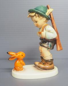 "M I Hummel ""Sensitive Hunter"" Figurine No. 6, 5.75"" High, Last Bee Mark"