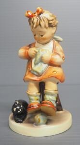 "M I Hummel ""Mother's Helper"" Figurine No. 133, 4.75"" High, Stylized Bee Mark"