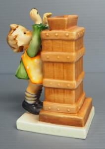 "M I Hummel ""Little Thrifty"" Figurine No. 118 With Key, 5.25"" High, Stylized Bee Mark"