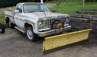 1980 Chevrolet Pickup Truck With Plow Blade, Heavy Rust, Farm Truck, Unknown Working Condition, VIN# CKL24AS129948, LOCATED IN INDEPENDENCE, PREVIEW BY APPT 9/8, SEE VIDEO
