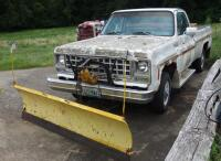 1980 Chevrolet Pickup Truck With Plow Blade, Heavy Rust, Farm Truck, Unknown Working Condition, VIN# CKL24AS129948, LOCATED IN INDEPENDENCE, PREVIEW BY APPT 9/8, SEE VIDEO - 3
