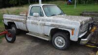 1980 Chevrolet Pickup Truck With Plow Blade, Heavy Rust, Farm Truck, Unknown Working Condition, VIN# CKL24AS129948, LOCATED IN INDEPENDENCE, PREVIEW BY APPT 9/8, SEE VIDEO - 4