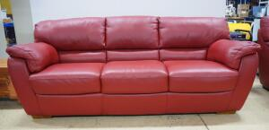 "Natuzzi Italia Leather Sofa, 37"" High x 91"" Long x 35"" Deep"