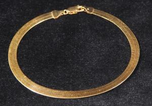 "14K Gold Bracelet, 8"" Long, 5.3 g Total Weight"