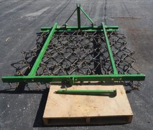 6' x 8' Frame Mounted Chain Harrows