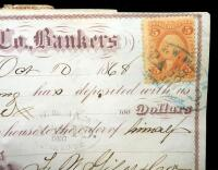 1868-1870 F.M. Giles & Co. Bankers Checks, Total Qty 10 - 3