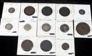 North And South American Coins, Includes Coins From Brazil, Mexico, Canada And More, And Spain, Total 13