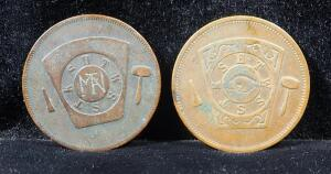 Masonic Chapter Pennies, Includes Keystone Chapter No. 6 R.A.M. And La Porte Chapter No.15