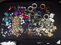 Costume Jewelry, Includes Bracelets, Rings, Earrings, Pins And More