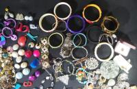 Costume Jewelry, Includes Bracelets, Rings, Earrings, Pins And More - 3