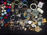 Costume Jewelry, Includes Bracelets, Rings, Earrings, Pins And More - 4