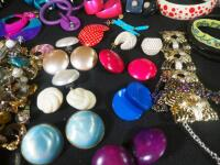 Costume Jewelry, Includes Bracelets, Rings, Earrings, Pins And More - 6