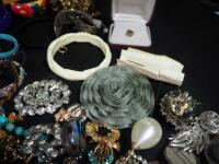 Costume Jewelry, Includes Bracelets, Rings, Earrings, Pins And More - 7