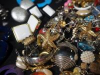 Costume Jewelry, Includes Bracelets, Rings, Earrings, Pins And More - 10