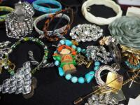 Costume Jewelry, Includes Bracelets, Rings, Earrings, Pins And More - 11